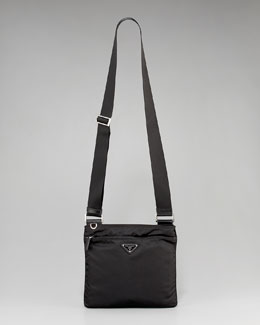 Prada Nylon Flat Crossbody