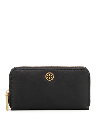 Continental Zip Wallet, Black