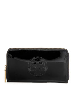 Tory Burch Patent Continental Wallet