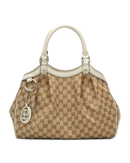 Gucci Sukey Medium Original GG Canvas Tote