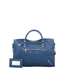 Balenciaga Giant 12 Nickel City Bag, Blue Cobalt