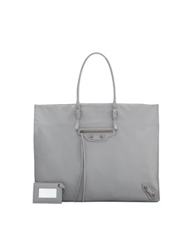 Balenciaga Papier A4 Leather Tote Bag, Graphite