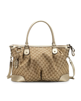 Gucci Sukey Large Top Handle Bag, Champagne