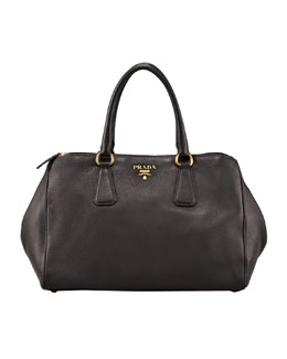 Prada Cervo Double-Handle Tote