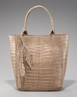 Nancy Gonzalez Crocodile Leaf Tote