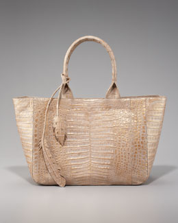 Nancy Gonzalez Crocodile Leaf Tote, East-West