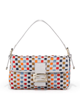 Woven Multi Color Satin Bagu