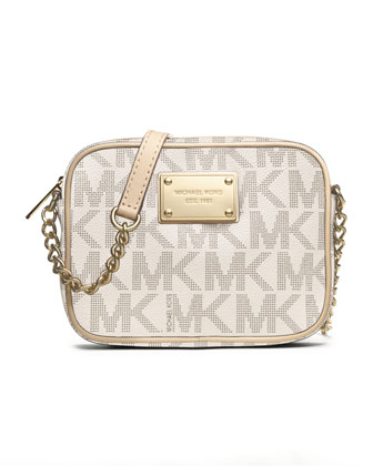 Jet Set Signature PVC Crossbody, Vanilla