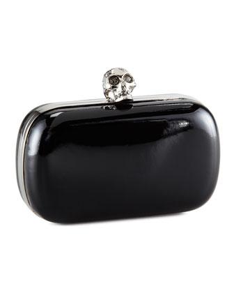 Classic Skull-Clasp Clutch Bag