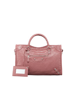 Balenciaga Giant 12 Nickel City Bag, Rose Bruyere