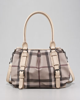 Burberry Check Shoulder Tote Bag, Small