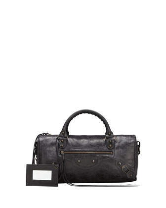 Classic Twiggy Satchel Bag, Black