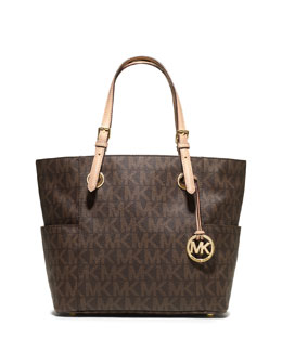 MICHAEL Michael Kors  Logo-Print Signature Tote Bag, Brown