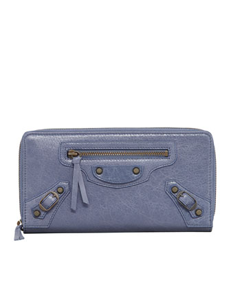 Classic Continental Zip Wallet, Jacynthe