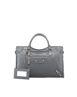 Balenciaga Giant 12 Nickel City Bag, Gris Tarmac