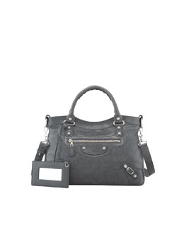 Balenciaga Giant 12 Nickel Town Bag, Gris Tarmac