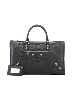 Balenciaga Giant 12 Nickel Work Bag, Black