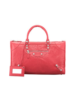 Balenciaga Giant 12 Nickel Work Bag, Rose Thulian