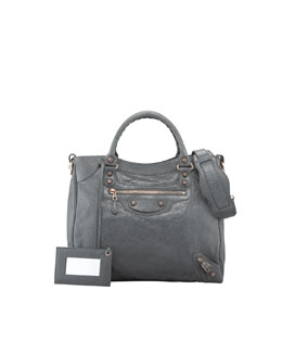 Balenciaga Giant 12 Rose Golden Velo Bag, Gris Tarmac