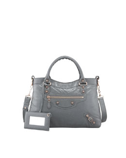 Balenciaga Giant 12 Rose Golden Town Bag, Gris Tarmac