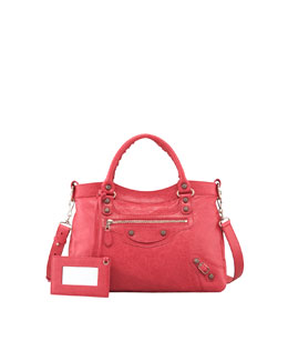 Balenciaga Giant 12 Rose Golden Town Bag, Rose Thulian