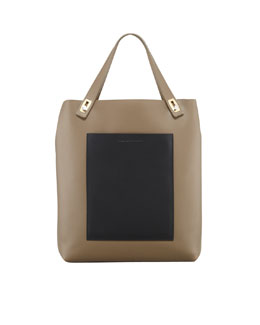 Balenciaga Pocket Tote Bag, Taupe/Black