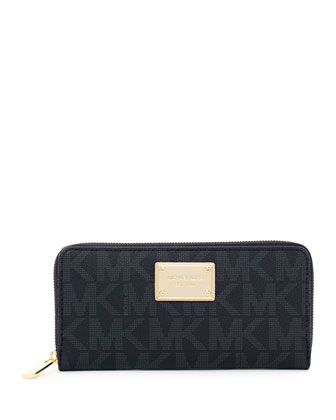 Jet Set Continental Wallet, Black