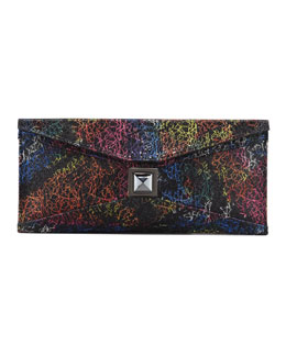 Kara Ross Prunella Stretch Glitter Clutch Bag