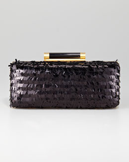 Diane von Furstenberg Tonda Eyelash-Sequin Clutch Bag