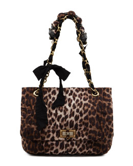 Lanvin Leopard-Print Happy Shoulder Bag