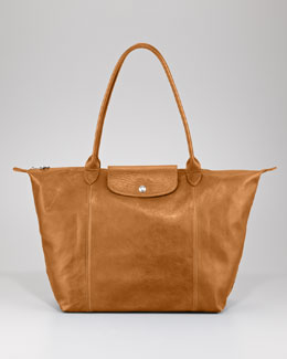 Longchamp Le Pliage Cuir Shoulder Tote Bag