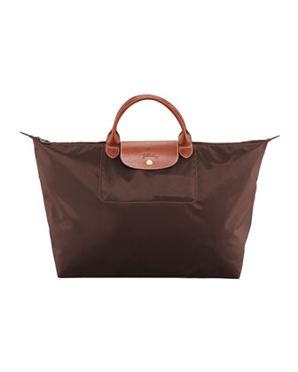 Le Pliage Large Travel Tote Bag, Chocolate