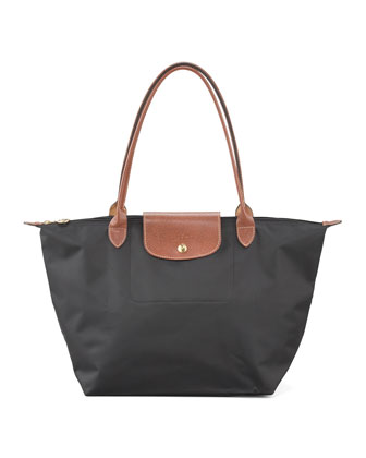 Le Pliage Monogram Large Shoulder Tote Bag, Classic Colors