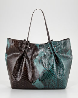 Nancy Gonzalez Crocodile and Python Tote Bag, Brown