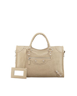 Balenciaga Giant 12 Nickel City Bag, Latte