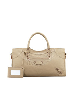 Balenciaga Giant 12 Rose Golden Part Time Bag, Latte