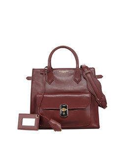 Balenciaga Padlock All Time Tote Bag, Bordeaux