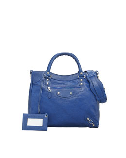 Balenciaga Giant 12 Nickel Velo Bag, Bluete