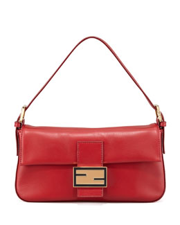 Fendi Leather Shoulder Baguette
