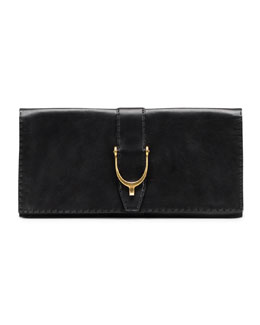 Gucci Soft Stirrup Leather Clutch Bag