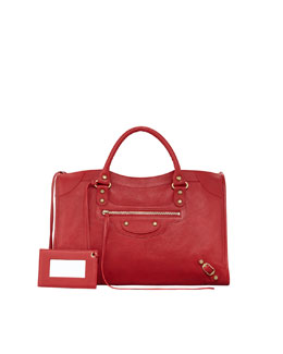 Balenciaga Classic City Bag, Red