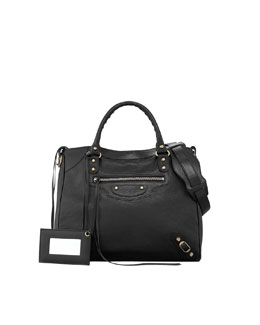 Balenciaga Classic Golden Velo Bag, Black
