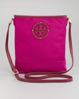 Tory Burch Stacked Logo Swingpack Bag, Fuchsia