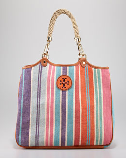 Tory Burch Channing Baja Stripe Tote Bag