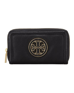 Tory Burch Amanda Continental Zip Wallet, Black