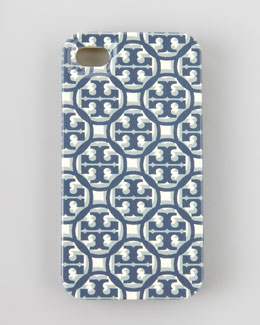 Tory Burch Logo Lattice Hard Shell iPhone 4 Case, Tory Navy