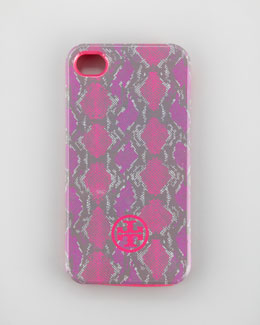 Tory Burch Pop Snake-Print Soft iPhone 4 Case