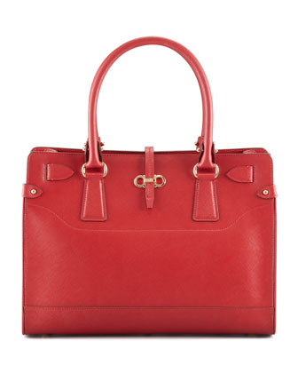 Briana Small Tote Bag, Red