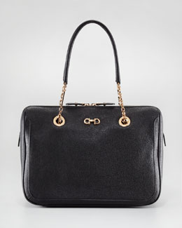 Salvatore Ferragamo Fanya Tote Bag, Black