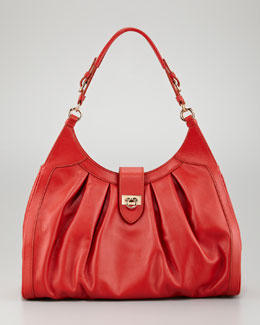 Salvatore Ferragamo Brunette Hobo Bag, Dark Orange